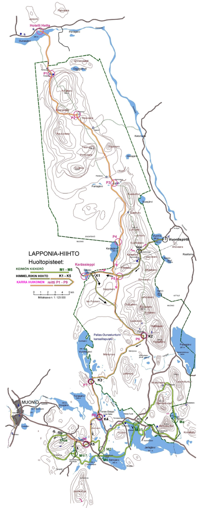 Lapponia service point map
